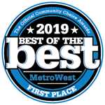 2019 best of the best MetroWest. First Place.